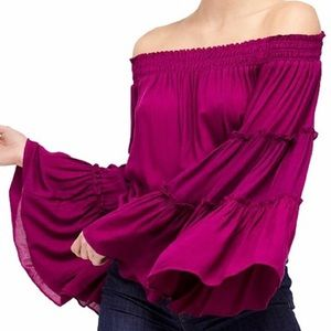Free People Free Spirit Blouse Off the Shoulder